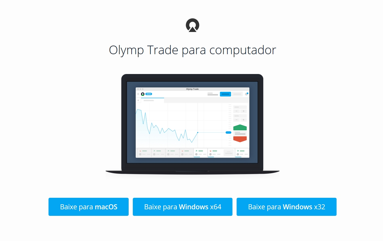 Como baixar e instalar o aplicativo da Olymp Trade no Windows ou MacOS