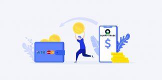 Retirada dinheiro de sua conta Olymp Trade para seu Visa/Mastercard
