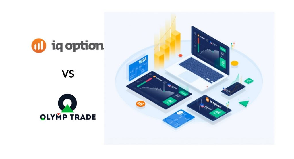 Compare duas plataformas de negociação Olymp Trade e IQ Option