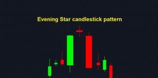 Como usar o padrão de velas Estrela da Tarde para negociar Fixed Time Trade de Down na Olymp Trade