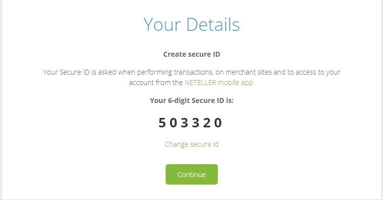 Grave a informação sobre o Secure ID (código de transferência de dinheiro)